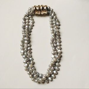 Jewelry - Freshwater Peacock Pearl Multi-strand Necklace
